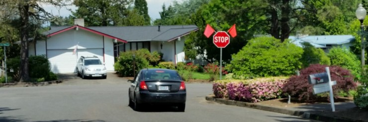 Stop Sign @ 30th & Ridge Drive